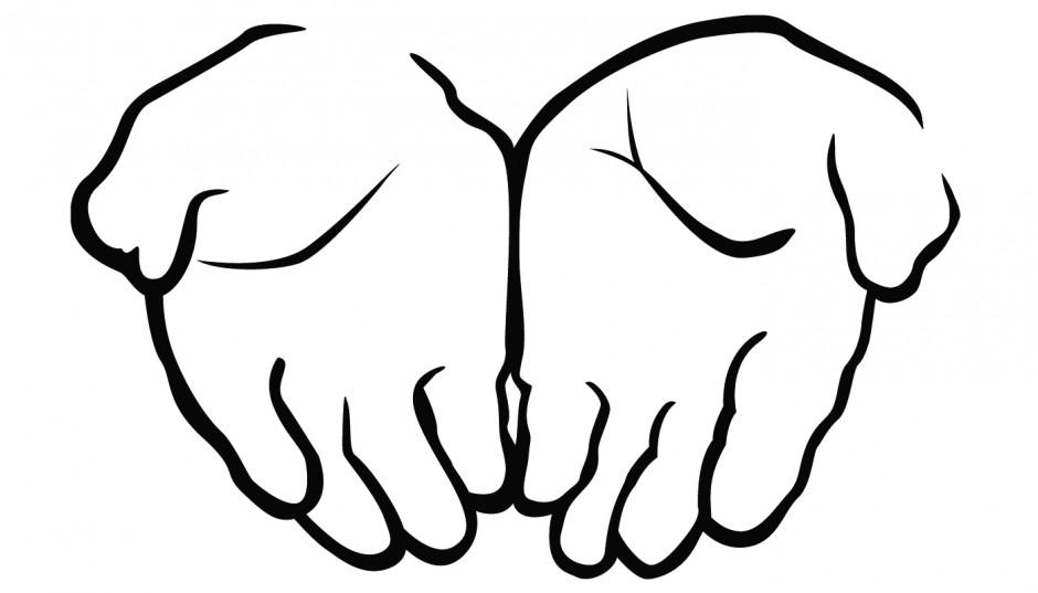 940x537 Hand clipart line art
