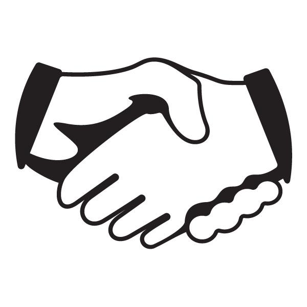 600x600 White Clipart Handshake