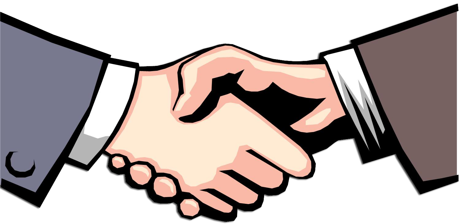 1503x731 Business Clipart Hand Shaking