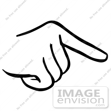 450x450 Clipart Of A Pointing Hand In Black And White