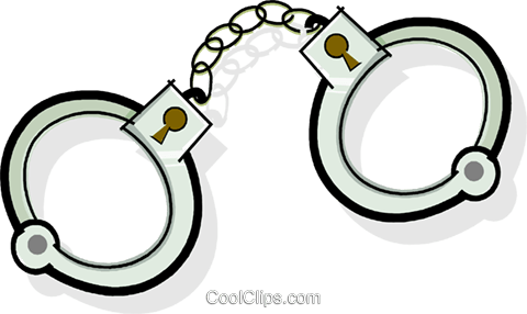 480x286 Handcuffs Royalty Free Vector Clip Art Illustration Vc065099