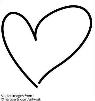 335x355 Drawn Heart Hand Drawn