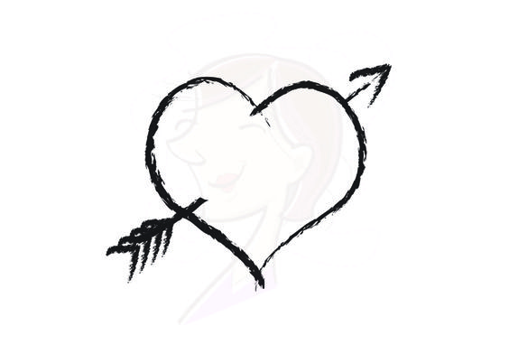 564x402 Arrow Clipart Heart