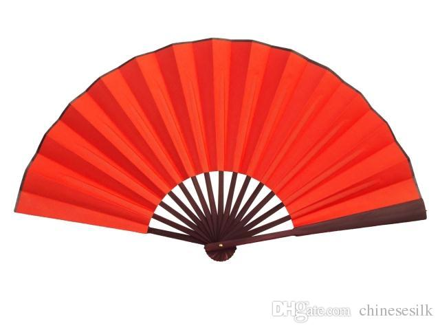 640x480 2018 10 8 Large Pure Red Dance Show Props Hand Fans Diy Program