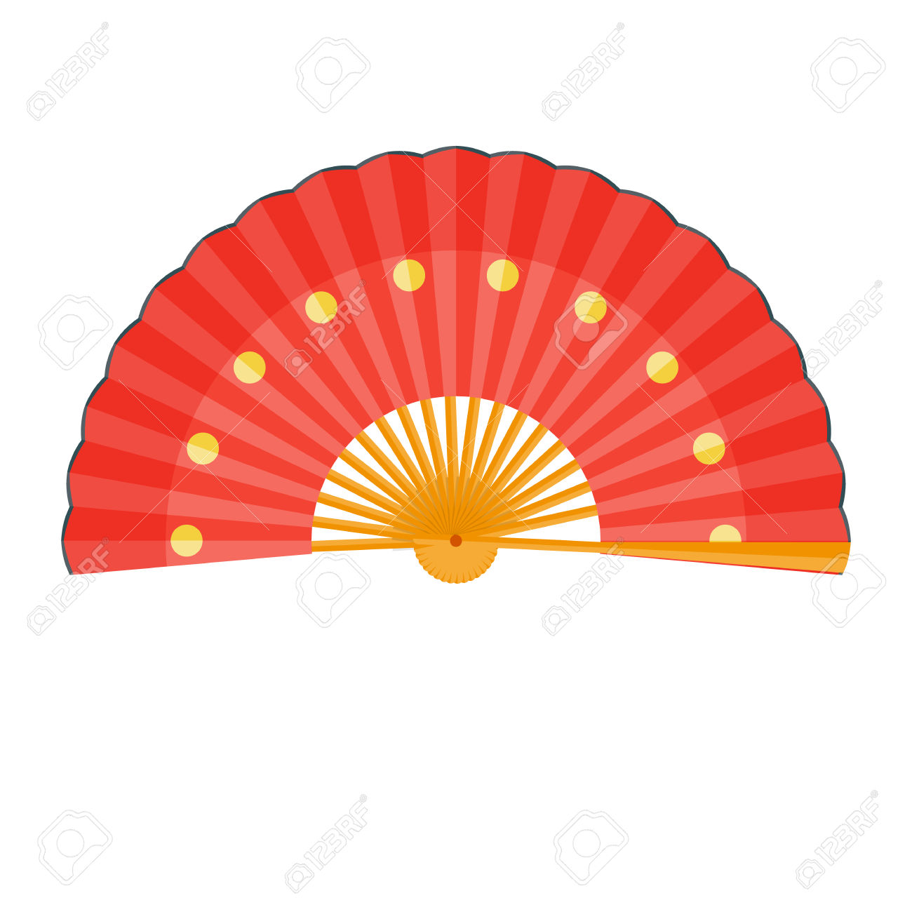 1300x1300 Fans Clipart Red Chinese