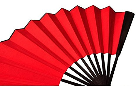 463x293 Jfs 13 Inch Pure Color Hand Held Silk Folding Fans