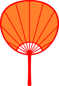 207x299 Orange Japanese Fan Clip Art