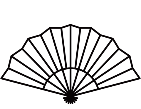 480x371 Red Chinese Hand Fan Free Clip Art