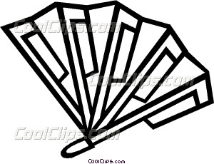 300x230 Hand Fan Vector Clip Art