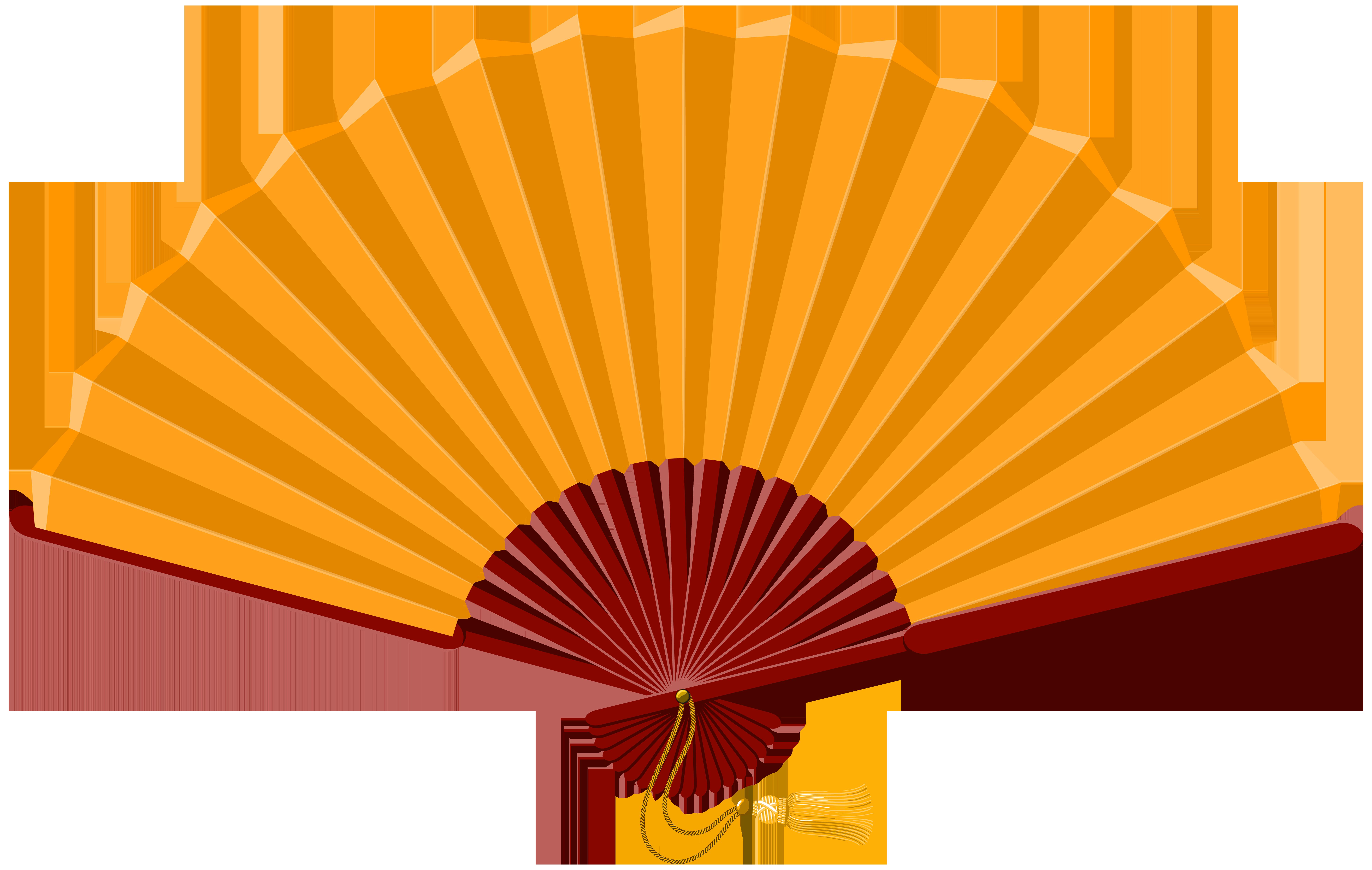 8000x5072 Chinese Fan Png Clip Art
