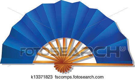 450x266 Clipart Of Folding Fan K13371823