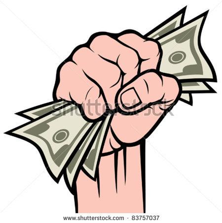 450x453 Hand Clipart Money