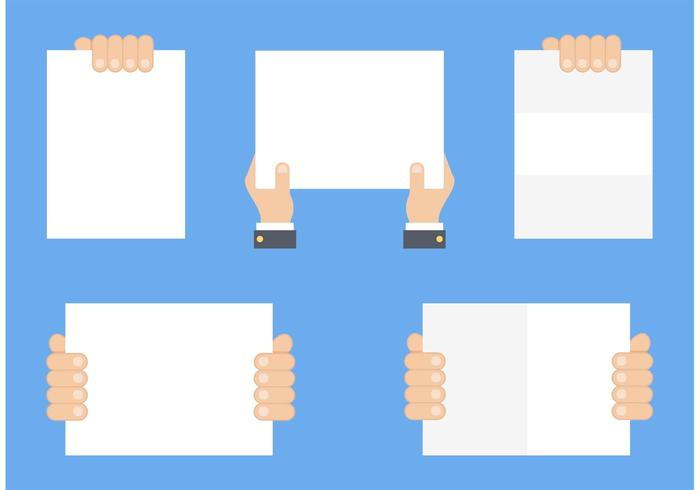 700x490 Free Hand Holding Blank Paper Vector