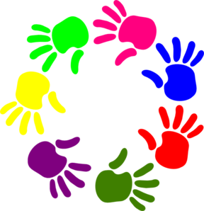 288x298 Helping Hands Black And White Clipart