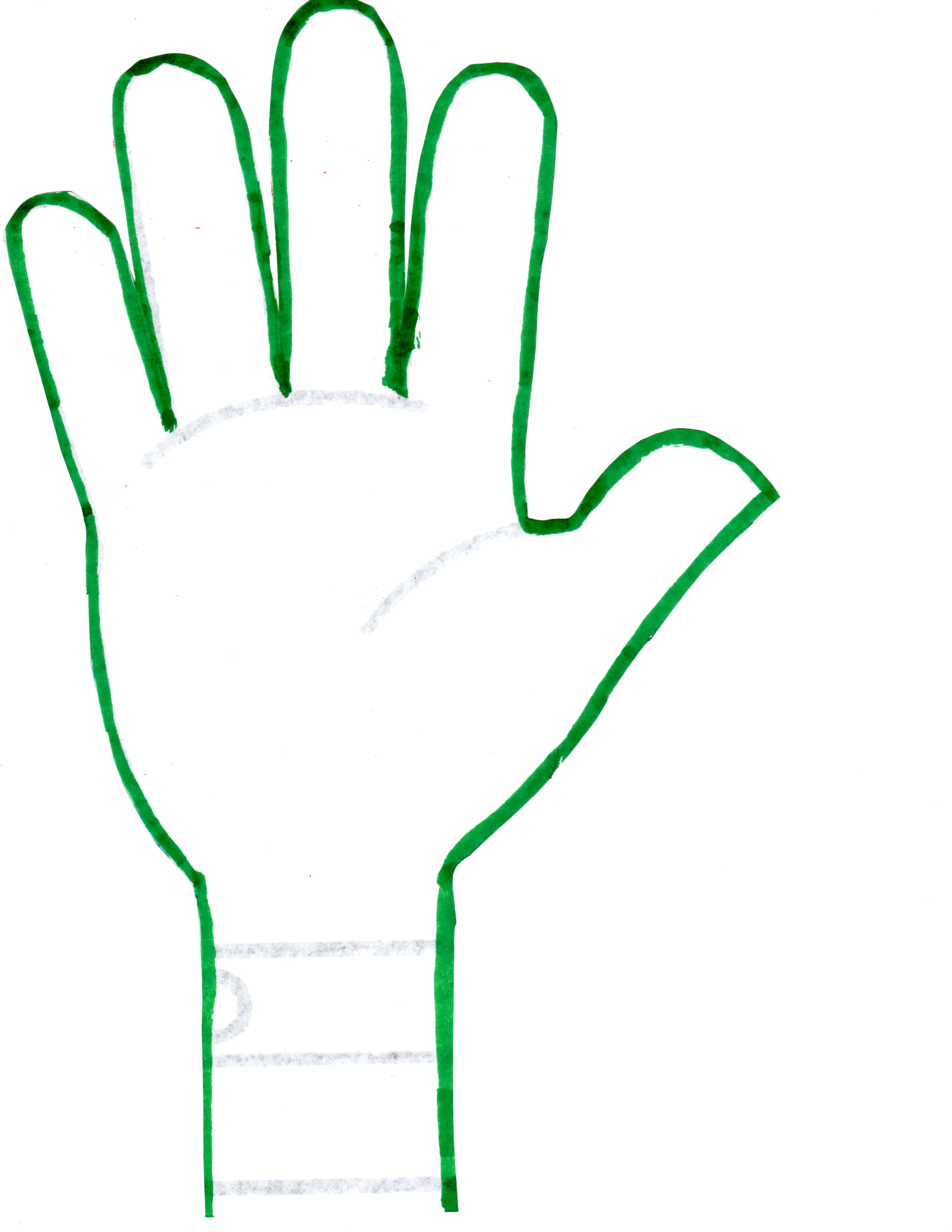 2550x3300 Hand Outline 2 Hands Template Clipart 2