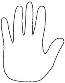257x327 Outline Of Hand Group
