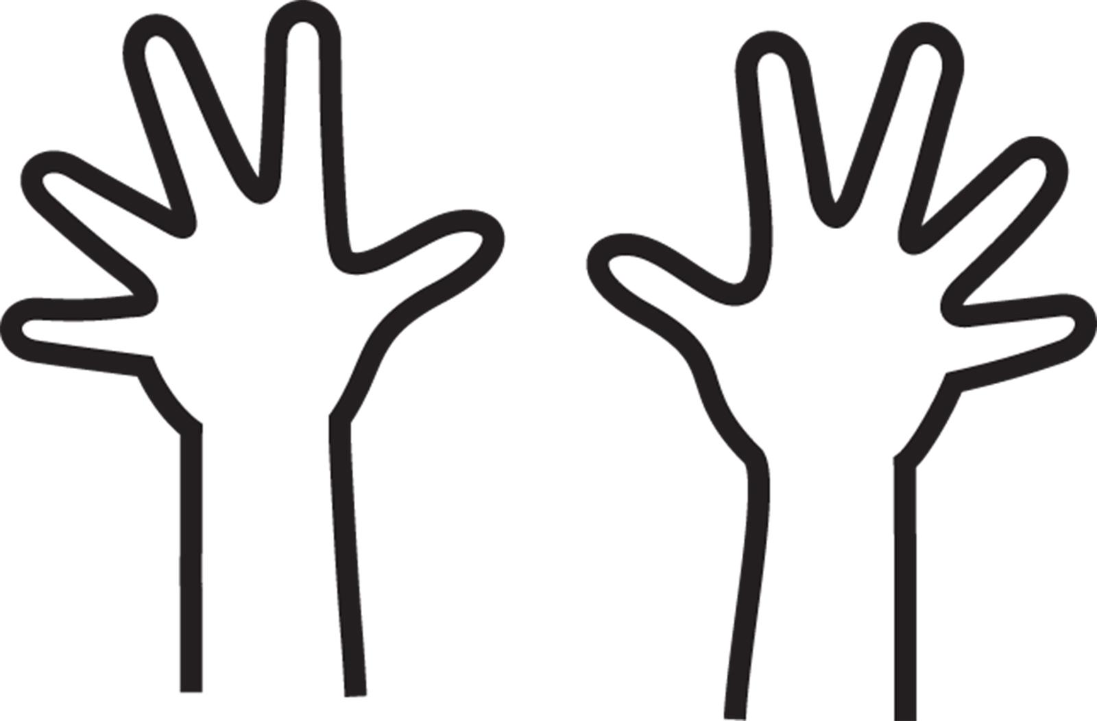 1600x1051 Finger Clipart Hand Outline