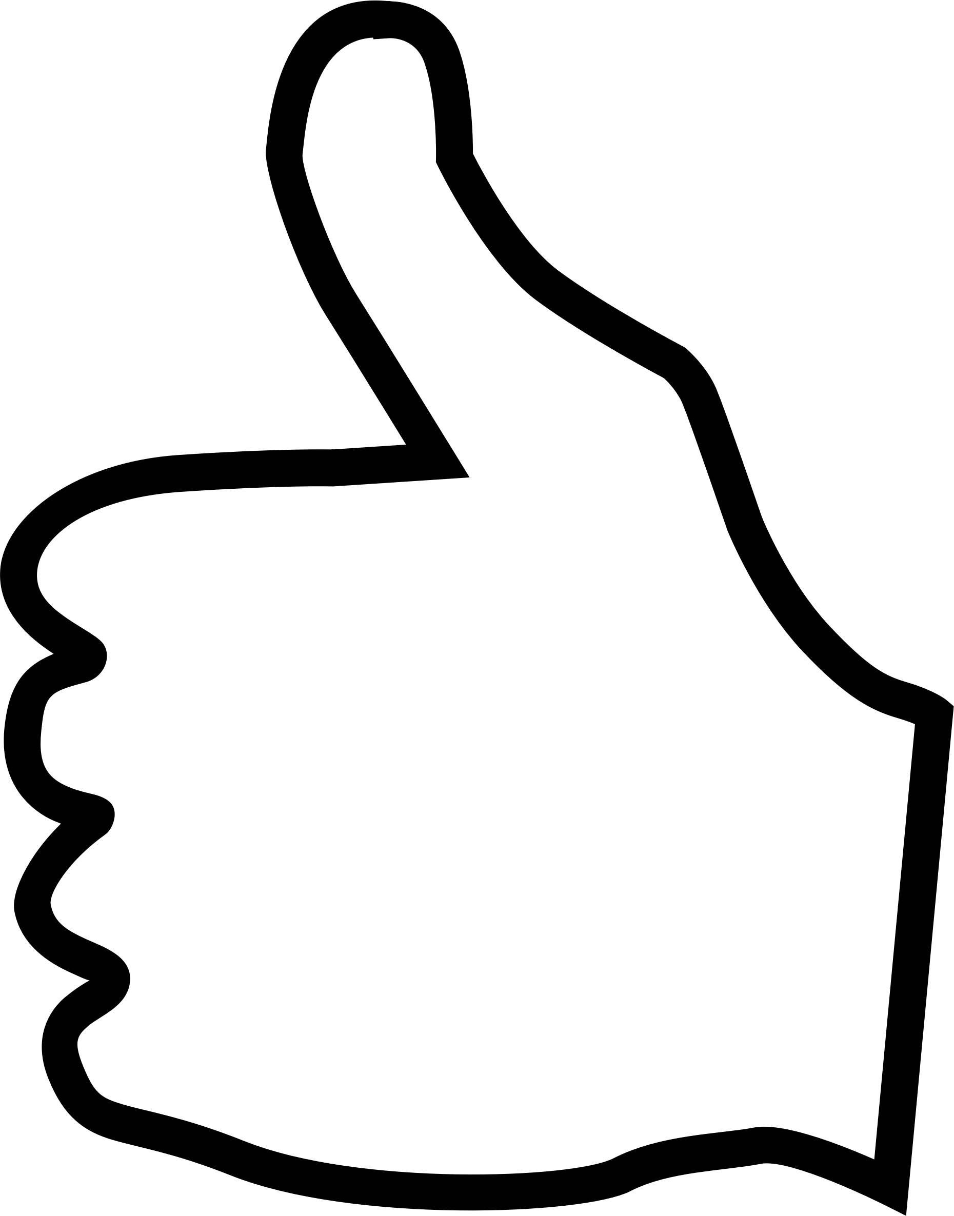 1860x2371 Hand Clipart Thumbs Up