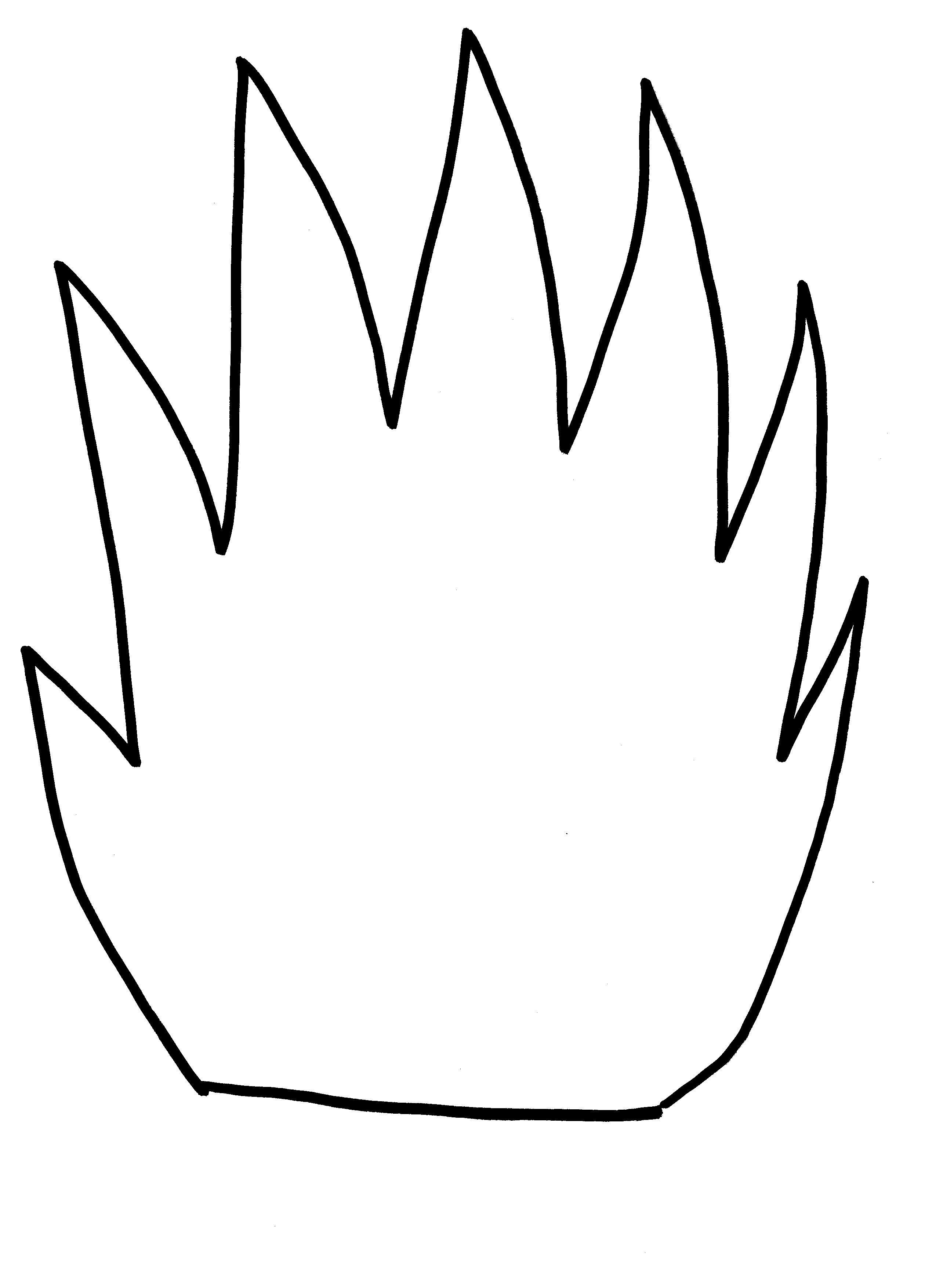 2550x3510 Flame Clipart Template