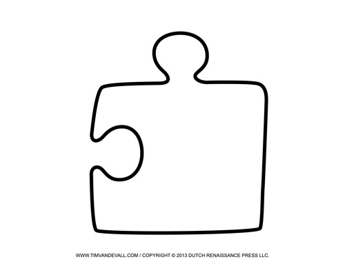 500x386 Blank Puzzle Piece Template