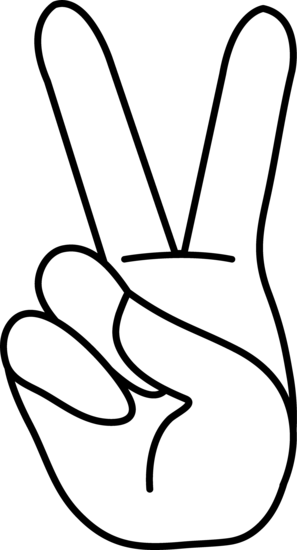 297x550 Peace Hand Sign Coloring Page