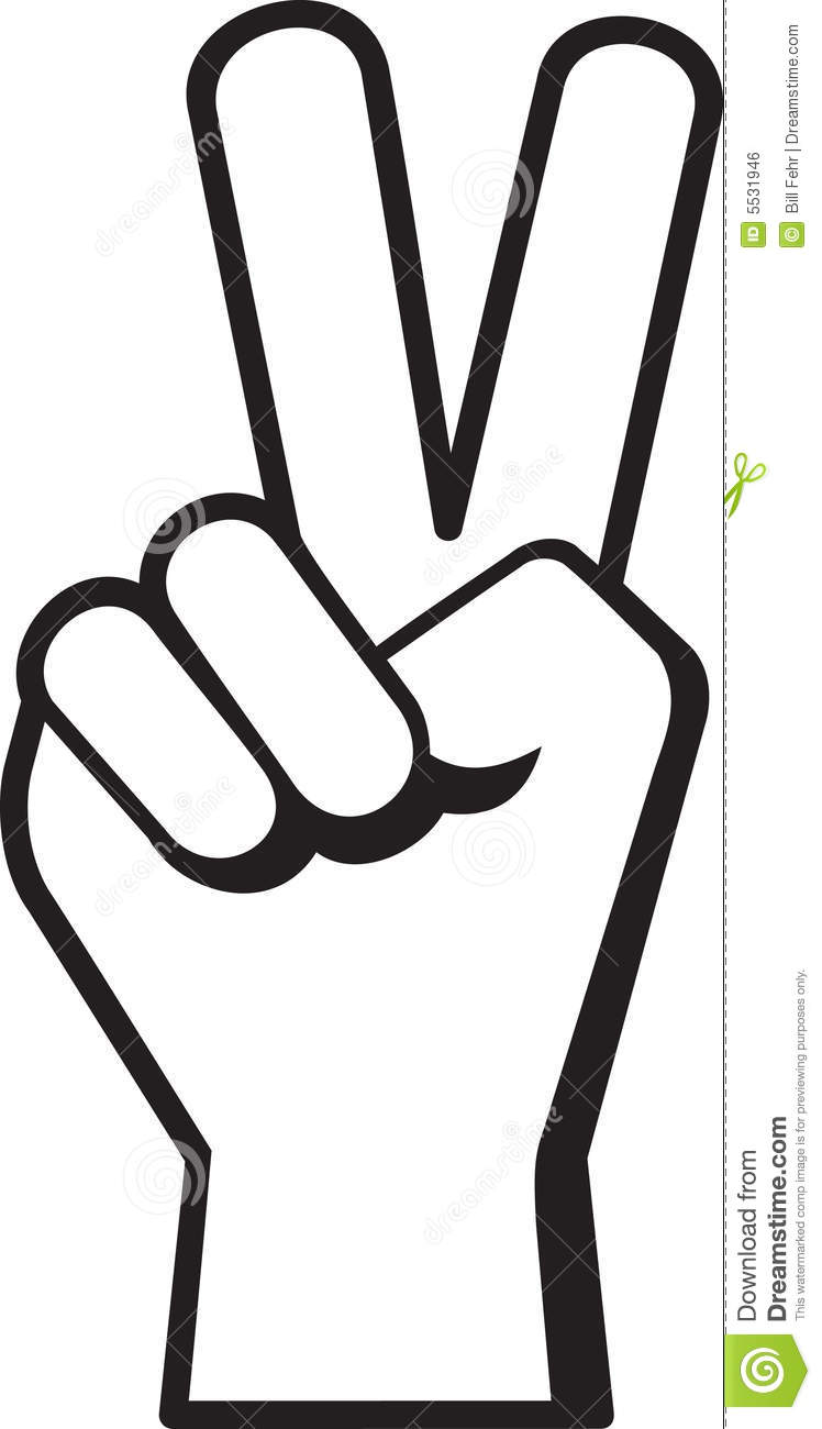748x1300 Finger Peace Sign Clipart