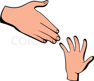320x275 Hands Reaching Out Stock Vector Colourbox