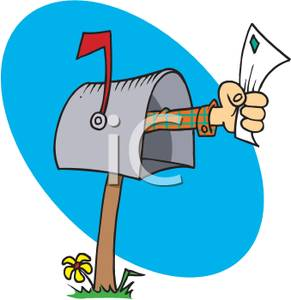 291x300 Man's Hand Reaching Out Of A Mailbox With An Envelop