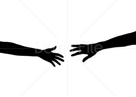 480x341 Reaching Hand Silhouette Clipart Panda