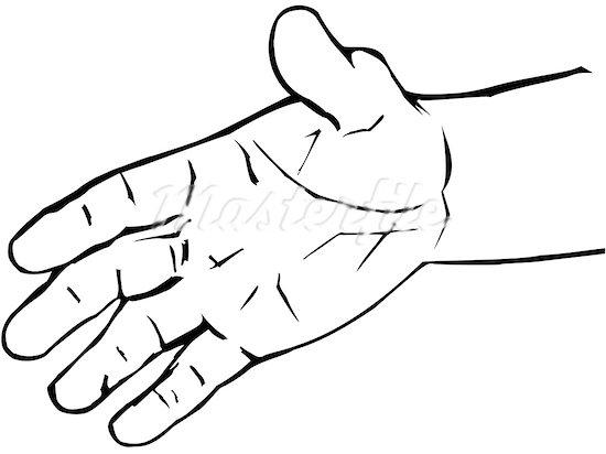 550x412 Hand Clipart