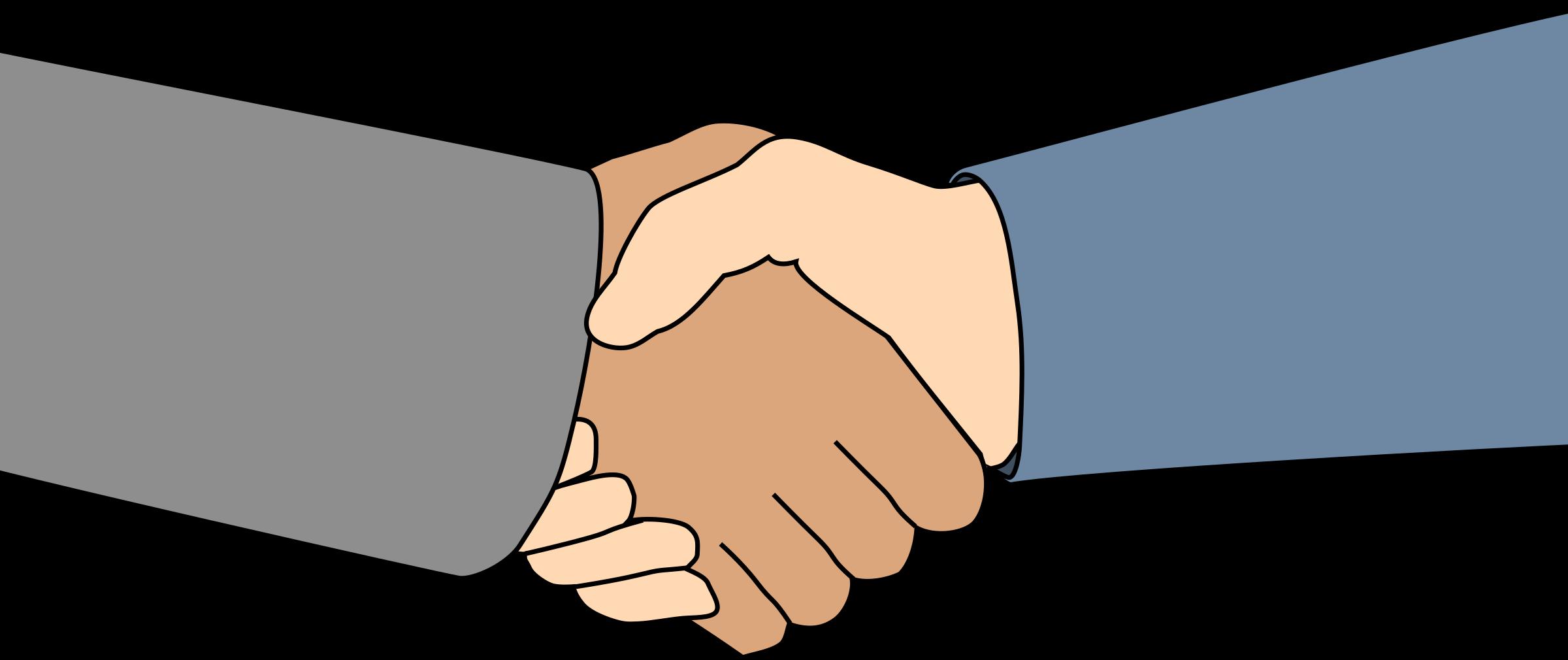 2400x1010 Clipart Of Handshakes