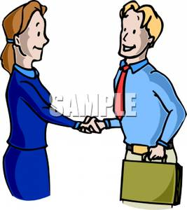 267x300 Businessman And Woman Shaking Hands Clipart Picture