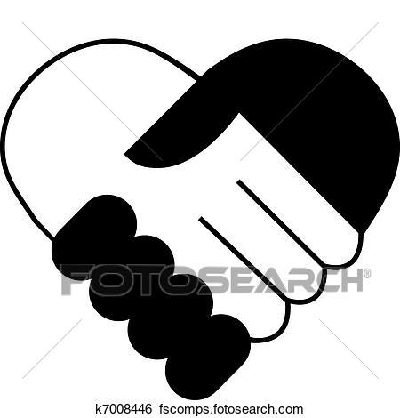 450x470 Clip Art Of Hand Shake K7008446