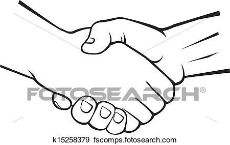 450x285 Clip Art Of Handshake K15258379