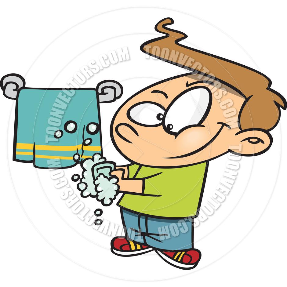 940x940 Cartoon Boy Washing Hands By Ron Leishman Toon Vectors Eps