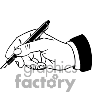 300x300 Hand Writing Clip Art Black And White Clipart Panda