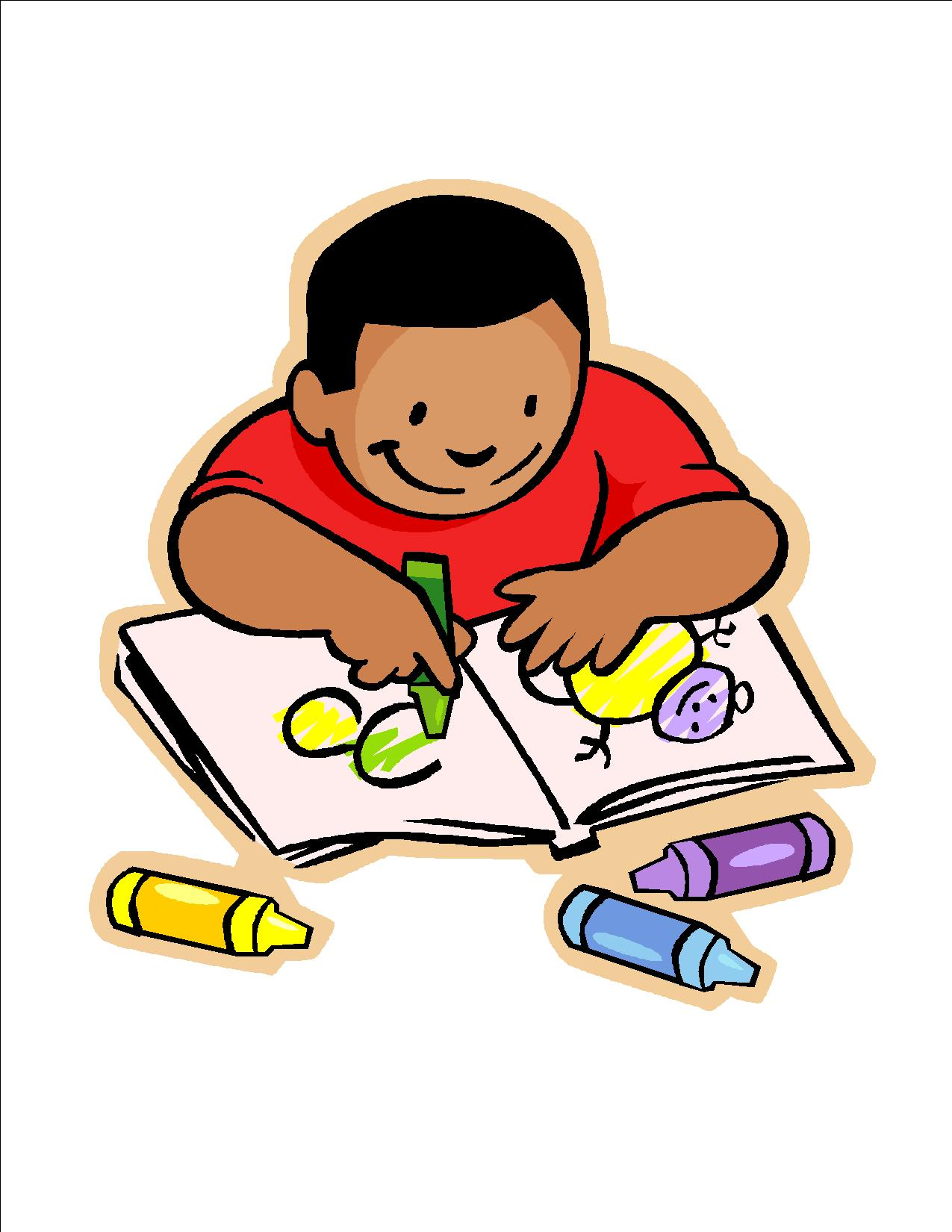 1275x1650 Child Writing Clipart