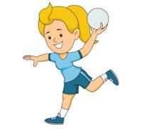210x183 Girl clipart handball