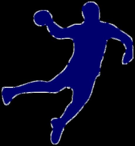 461x500 Handball silhouette Public domain vectors