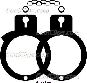 300x285 Handcuffs Vector Clip Art