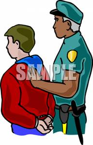 192x300 Art Image A Police Officer Arresting Another Man