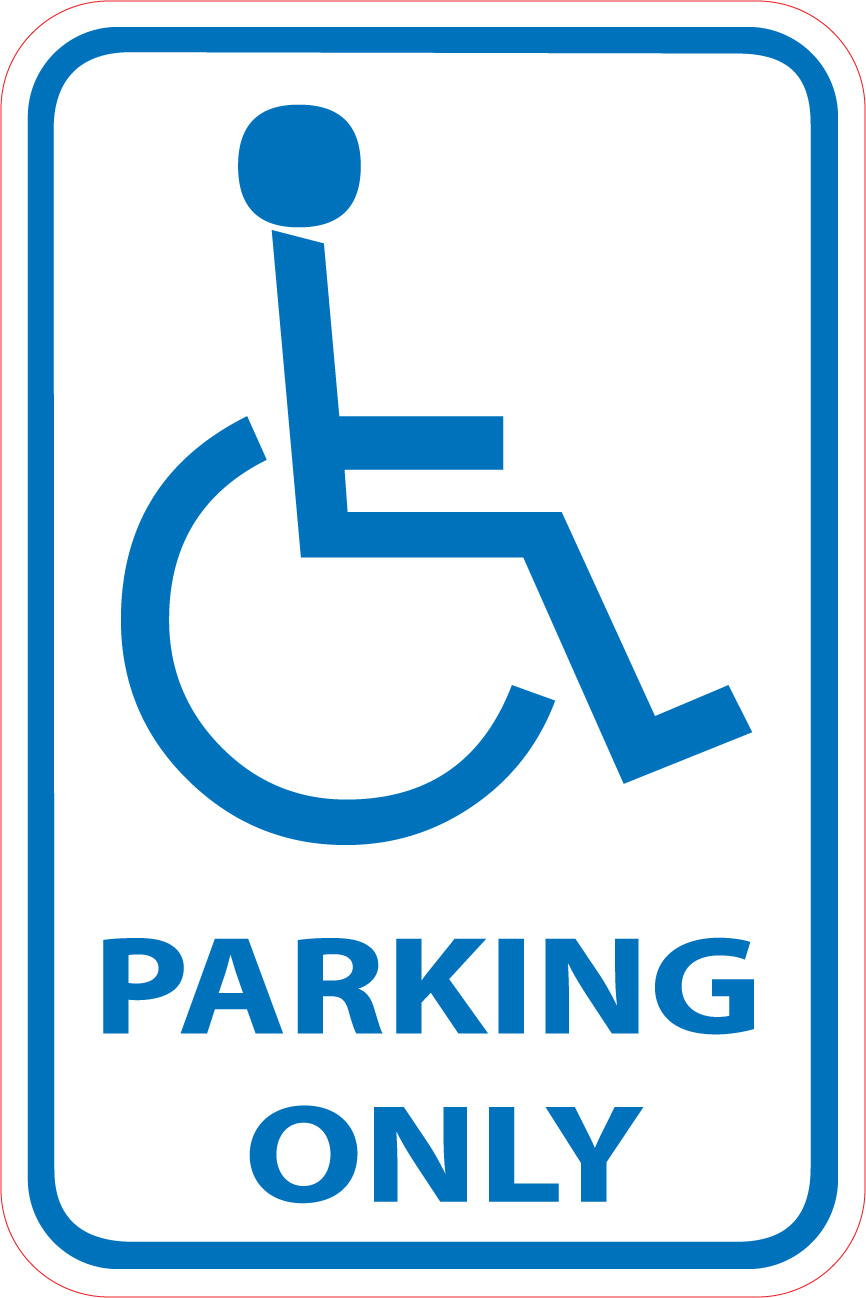 866x1298 Flagrant Disabled Parking Sign Image Vector Clip Art Royalty Free