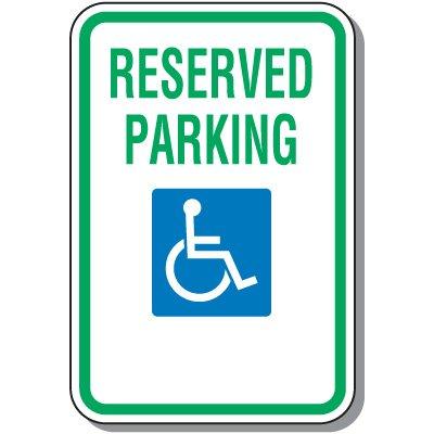 400x400 Handicap Parking Signs