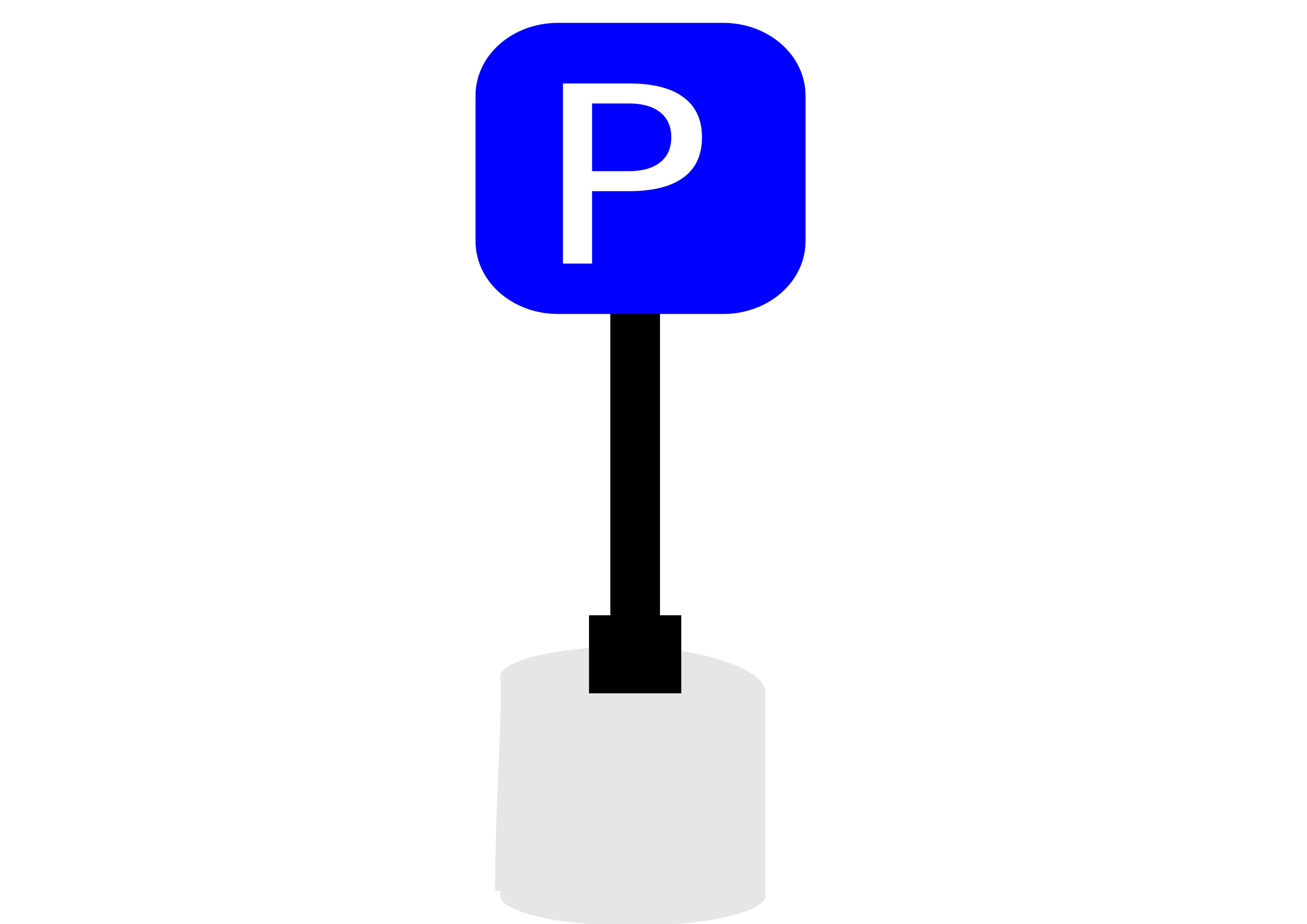 3394x2400 Area Clipart Parking Sign