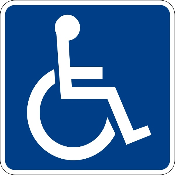 600x600 Handicapped Accessible Sign Clip Art Free Vector In Open Office