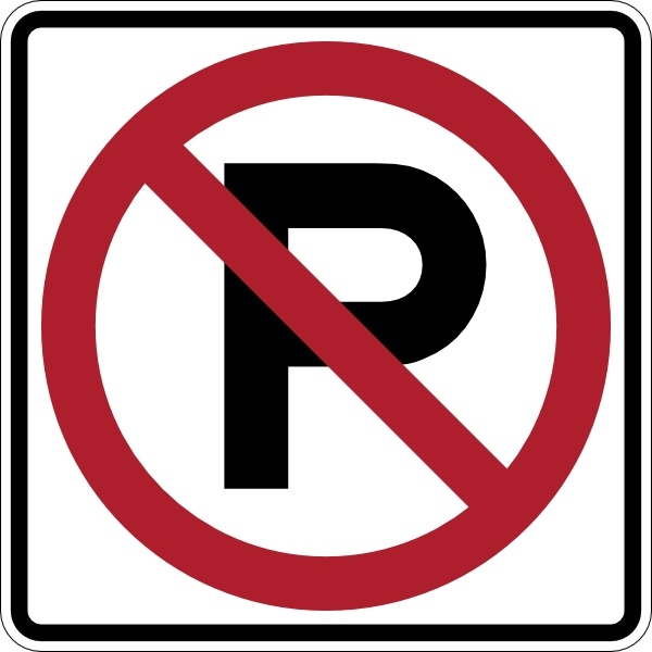600x600 No Parking Sign Clip Art Free Vector In Open Office Drawing Svg