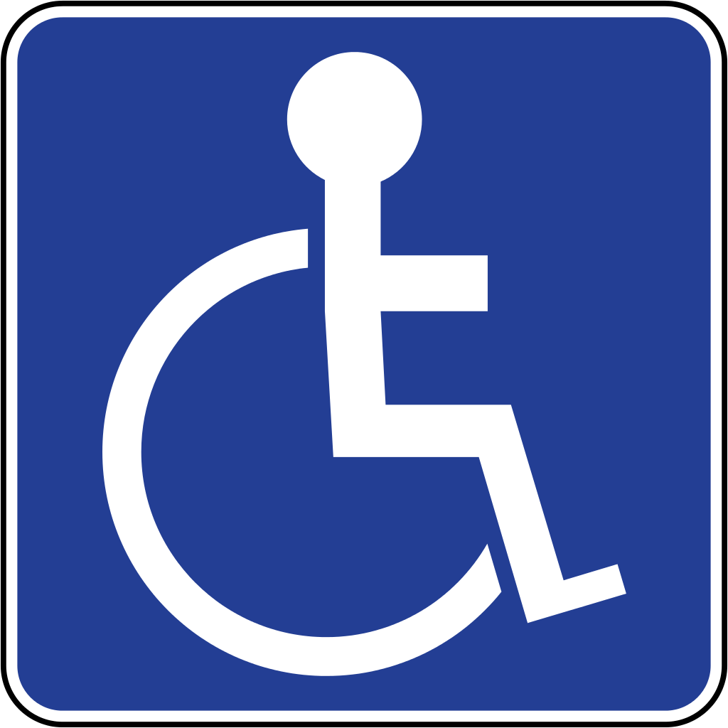 1024x1024 Printable Handicap Parking Signs