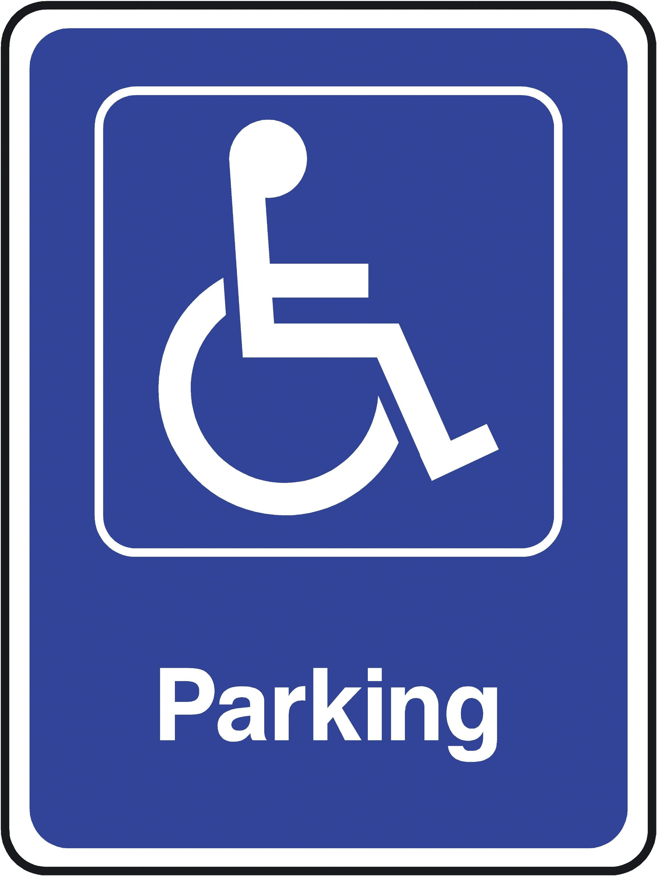 2483x3312 Disabled Parking Sign Clip Art