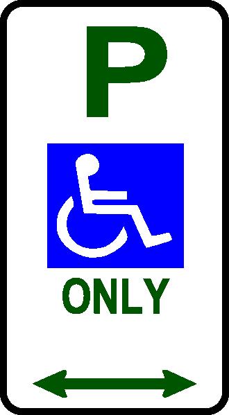 330x599 Disabled Parking Sign Clip Art