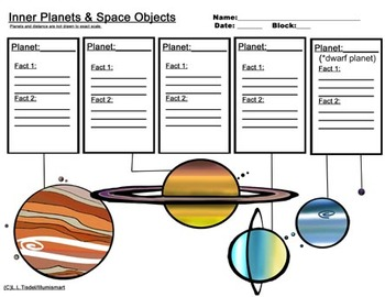 350x270 And Outer Planet Worksheets Bonus 4 Piece Clip Art Included!